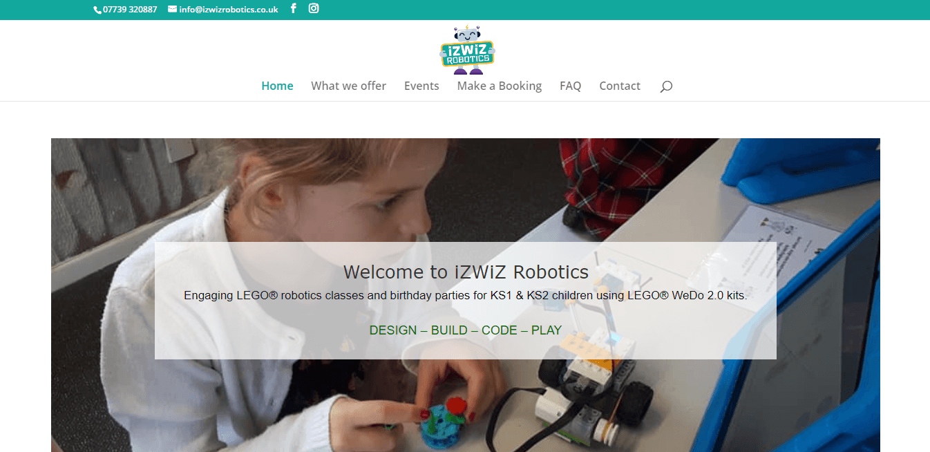 IzWiz Robotics Website Build Workshop