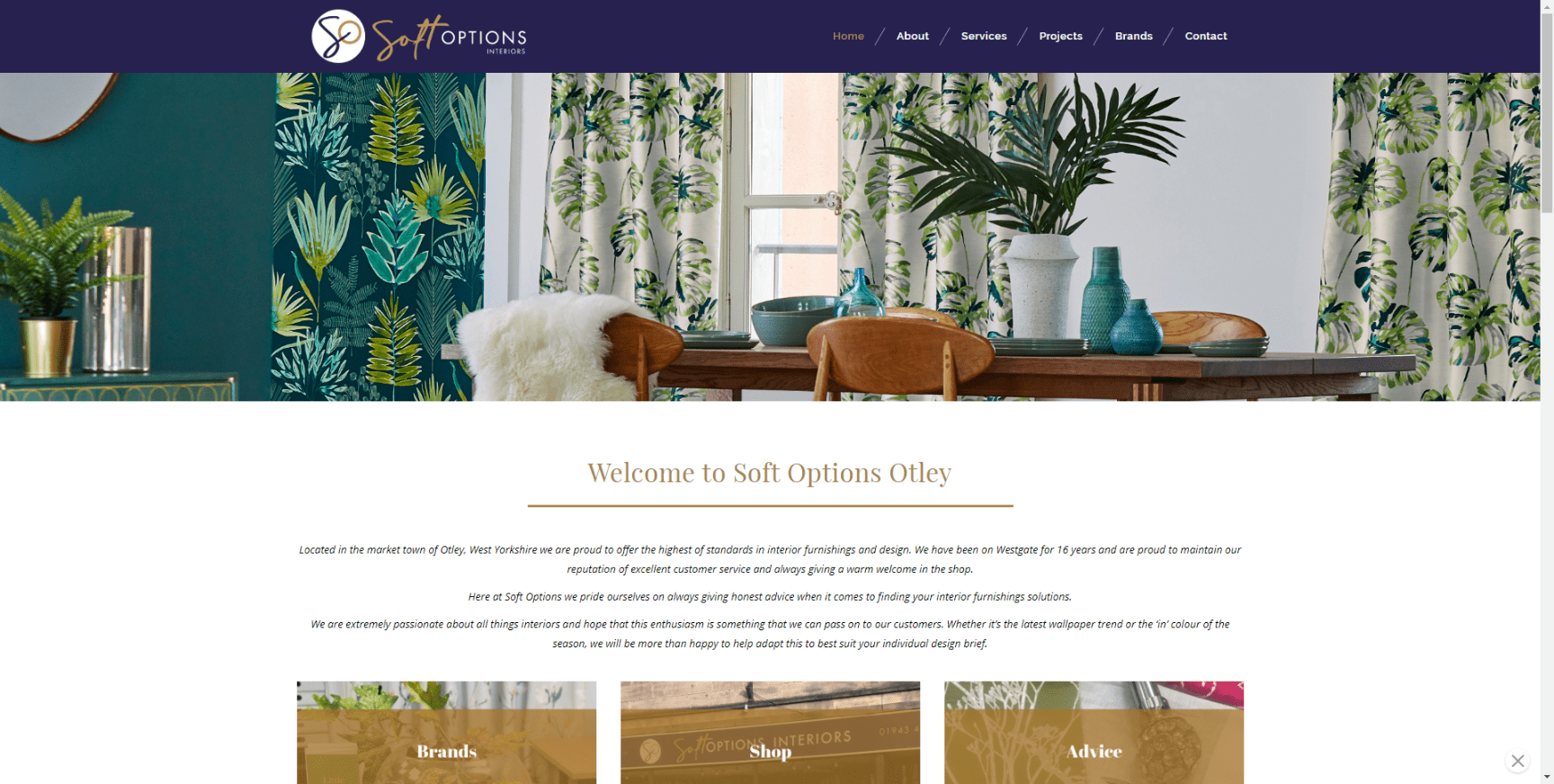 Soft Options Otley Website Build