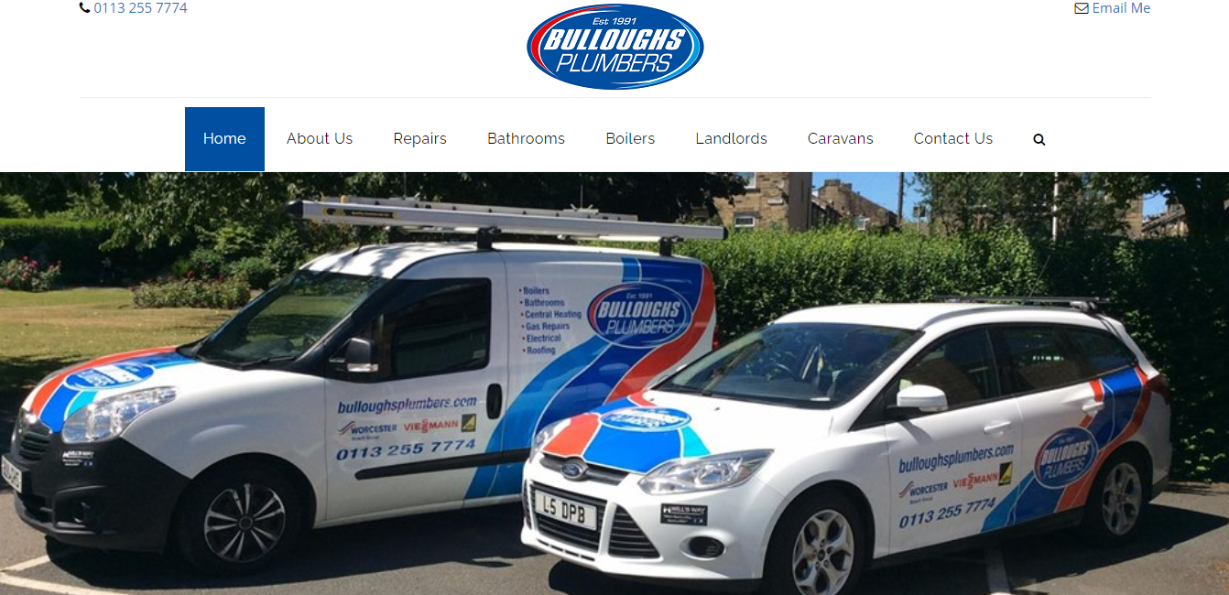 Bulloughs Plumbers Website Build