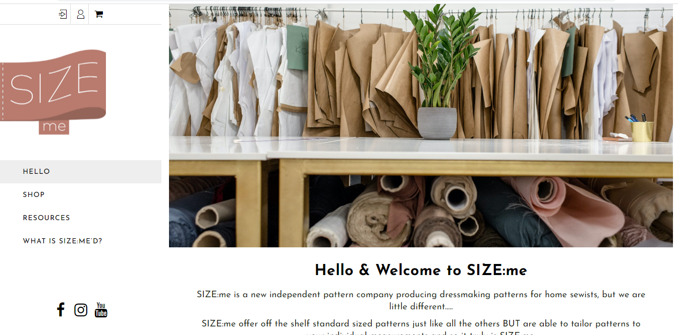 Size Me Sewing Website Build
